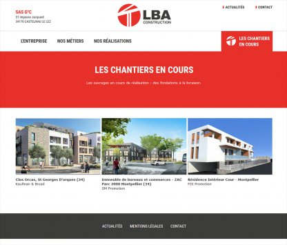 Page chantiers